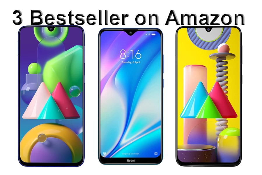 3 best seller phones on amazon.in