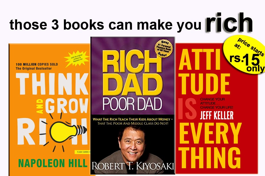 three motivational books cover images